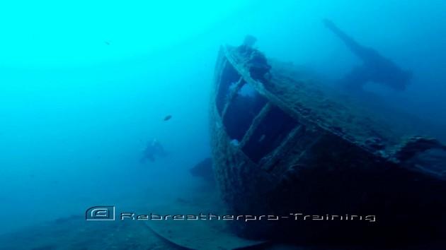 Wreck diving in Sardinia - Rebreatherpro-Training
