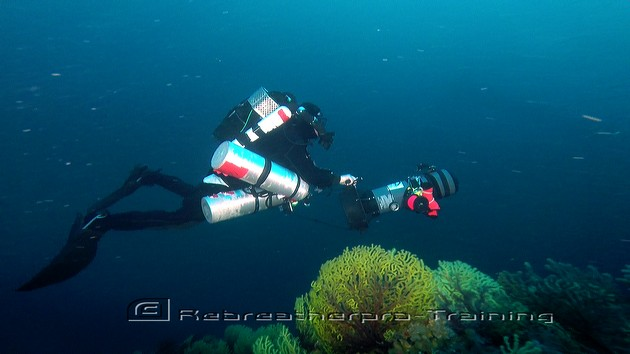 Another deep water shot on the wreck of The San Marco in Sardinia - Rebreatherpro-Training