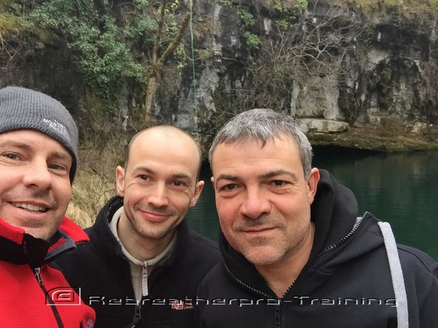 Cave diving In France - Rebreatherpro-Training