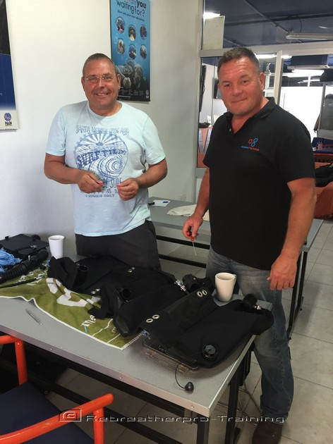 Congratulations to Steve and Steve on completing their JJ-CCR course - Rebreatherpro-Training