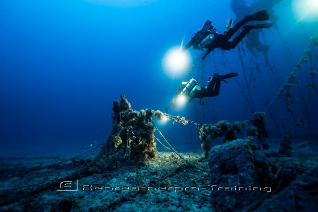 The wreck of the Valforita in Sicily - Rebreatherpro-Training