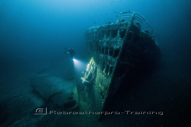 SS Justicia in Malin Head - Rebreatherpro-Training