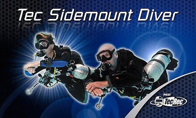 Padi sidemount and Tec sidemount Courses - Rebreatherpro-Training