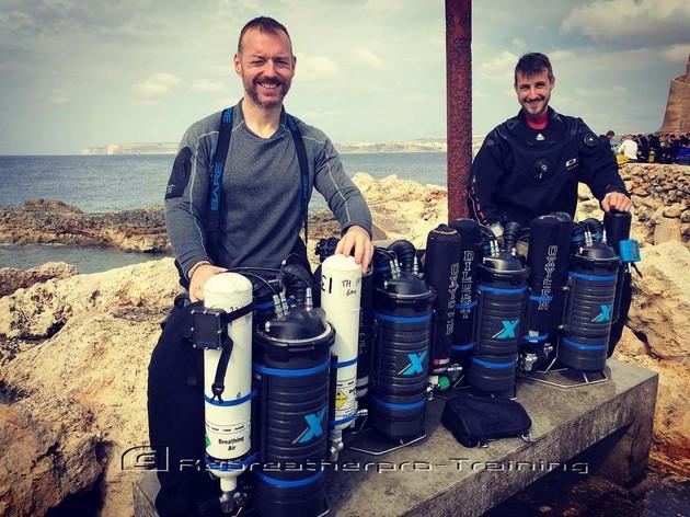 Congratulations to Tony Haynes and Chris - Rebreatherpro-Training
