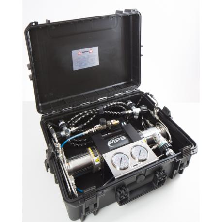 MPS C2X Gas Booster (with Double Gauge) in Case - Rebreatherpro-Training