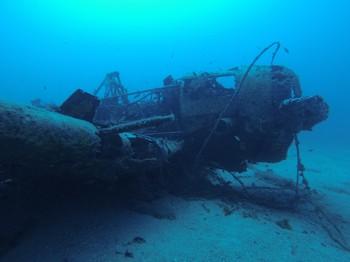 Texan airplane wreck Rebreather diving Rebreatherpro-Training