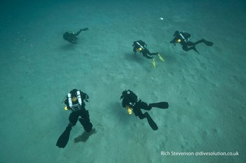 Rebreather student divers on the Mod1 courses Rebreatherpro-Training