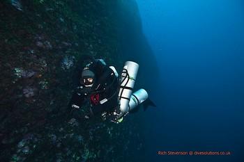 Diver on their IANTD mod2 in Malta Rebreatherpro-Training