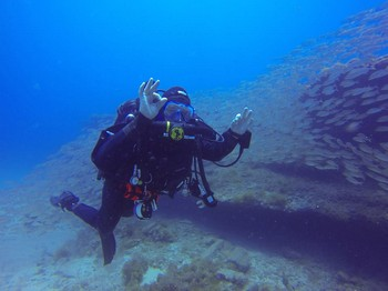 First CCR dive in the Ocean. Rebreatherpro-Training