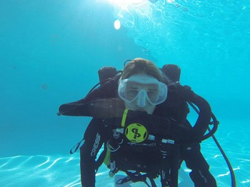 Padi Course direct Mariska Gruizinga using a CCR for the first time Rebreatherpro-Training