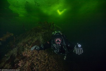 Dave Gration Ice Diving under the ice in The White Sea, Russia. Rebreatherpro-Training