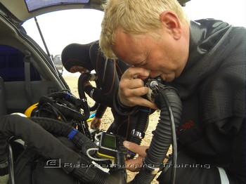 Matt Astil from Dive Academy Gran Canaria on his Mod1 Rebreather course Rebreatherpro-Training