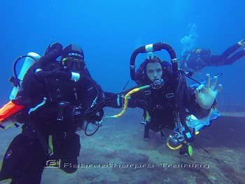 Stress management skills on the a rebreather course. Rebreatherpro-Training