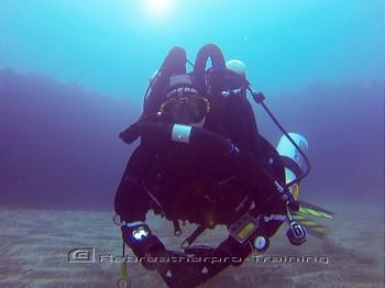 Rebreather diver diving bubble free Rebreatherpro-Training
