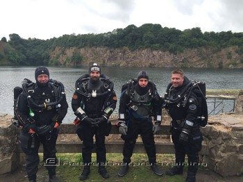 Congratulations to Guy on his AP rebreather course Rebreatherpro-Training