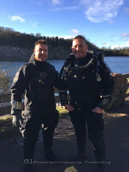 More SF2 try dives today at Stoney Cove Rebreatherpro-Training