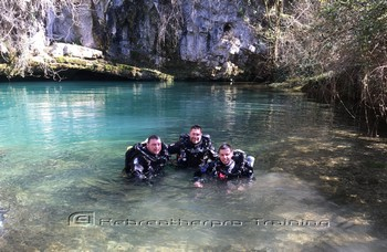 TDI CCR Full Cave Course in France Rebreatherpro-Training