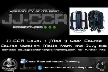 JJ-CCR Mod1 user level course Rebreatherpro-Training