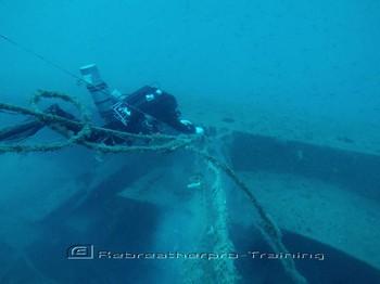 Deep Wreck Ghost fishing. Rebreatherpro-Training