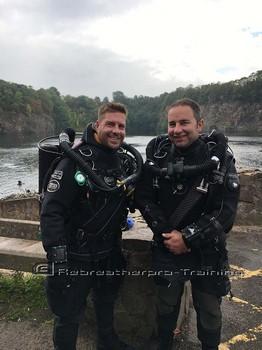 Chris Gulliver Ryan rocking the JJ on his rebreather try dive. Rebreatherpro-Training