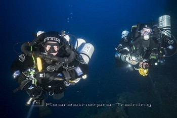 Kevin and Peter on their deepest dive. Rebreatherpro-Training