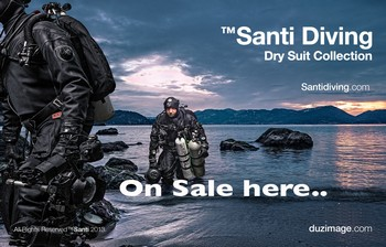 Santi drysuit and heating system on sale here, Rebreatherpro-Training