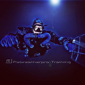 M3S Triton Chest Mounted Rebreather. Rebreatherpro-Training