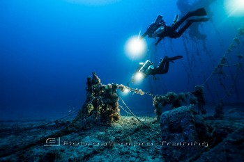 The wreck of the Valforita in Sicily Rebreatherpro-Training