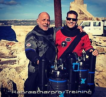 Congratulations to Carmel Vella on completing his X-CCR crossover courses Rebreatherpro-Training
