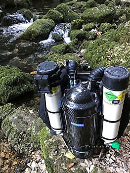 XCCR Carbon Fibre Cave and Wreck Shield. Rebreatherpro-Training