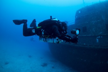 MV Karwela is one of the three diving wrecks Rebreatherpro-Training