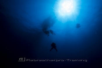 A manned submersible was used to explore the shipwreck Rebreatherpro-Training