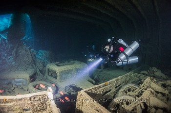 The Thistlegorm is one of the most popular and most dived sites in the world Rebreatherpro-Training