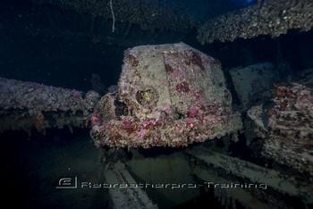 Sicily wreck diving Rebreatherpro-Training