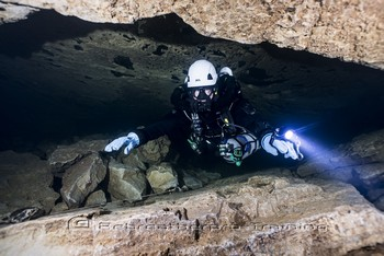 Fontain de St George is where some of the first penetrative cave dives were achieved in France. Rebreatherpro-Training